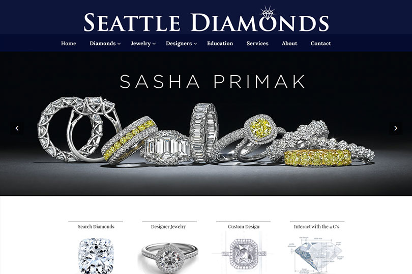 Seattle Diamonds Website Design